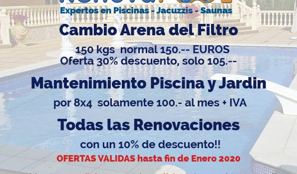 Special Offers For Pool Maintenance And Pool Renovations On The Costa Blanca Renovapool