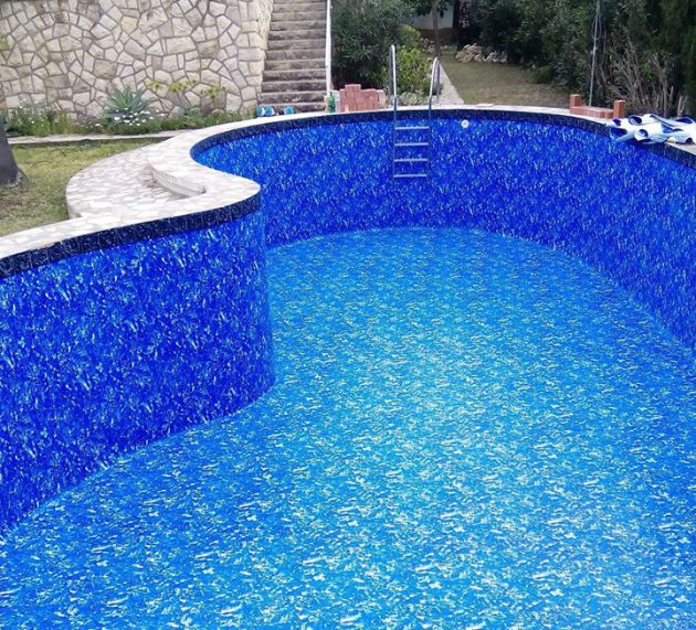 Renovation of this swimming pool with PVC liner in Albir