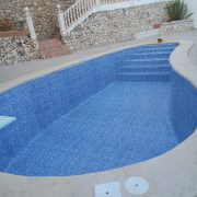 Renovation of a swimming pool with PVC liner on the Costa Blanca