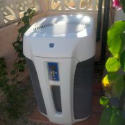 Swimming pool heat pump from ZODIAC installed in ALCALALI at COSTA BLANCA